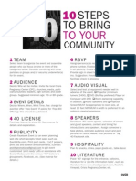 10 Steps to Bring 40 to Your Community