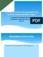 EJEMPLO Sobre Bosquejo de Informe Investigacion
