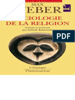 WEBER, Sociologie de La Religion (Champ Flammarion)