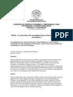 """PONENCIA - """"Los Derechos Del Consumidor Frente Al Derecho Marítimo y Aeronáutico"""" - PACELLO GERMÁN EDUARDO"""