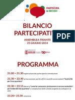 Report Quartiere Triante 25 giugno 2014