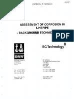 Assesment of Corrosion Dnv Bg 1998