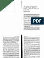 Nominative Plural and Preterite Singular Active Participle in Baltic- Cowgill