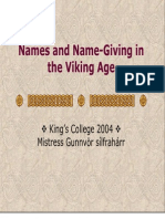 The Basics of Old Norse Names