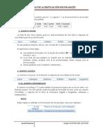 Reglas de Acentuación en Francés
