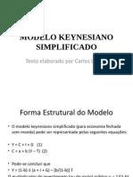 1 Modelo Keynesiano Simplificado
