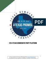 Texas Democrats 2014 Platform