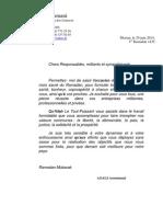 Lettre de Voeux Du President AZALI à ses Militants