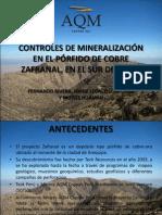 Controles de Mineralización en el pórfido de Cu Zafranal, en el sur del Perú