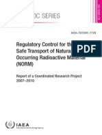 Regulatory Control for the Safe Transport of Naturally Occurring Radioactive Material (NORM)