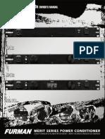 Furman MeritxSeries Manual
