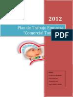 Plan de Trabajo de Economia Empresarial30.11.12