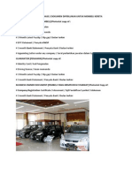 Document for Car Purchase