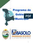 Programa de Gobierno 2012-2015