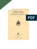 Chartier Cultura Escrita Literatura e Historia