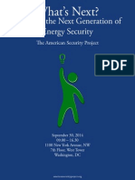 What's Next? Fostering the Next Generation of Energy Security