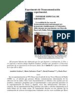 Experimento de Transcomunicación Experimental - Marcelo Bacci