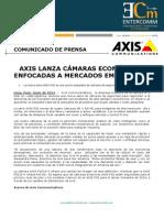 NP - Axis lanza cámaras económicas enfocadas a mercados emergentes