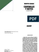 HARRIS M - Caníbales y Reyes. Los Orígenes de La Cultura