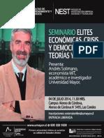 """NEST Seminario """"Elites económicas, crisis y democracia"""