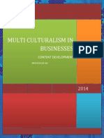 In Business Environment and Multicultural Business Setting