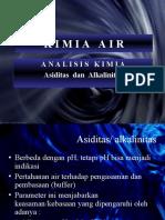 kimia air . Asiditas Alkali