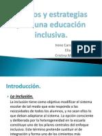 Apoyos y Estrategias Para Una Educacin Inclusiva