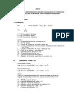 Formulas de Determinacion de Capacidad
