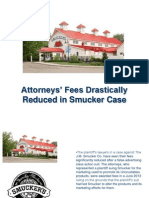 Attorneys' Fees Drastically Reduced in Smucker Case