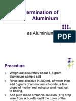 kimia analitik . Determination of Aluminium