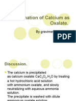 Determination of Calcium as Oxalate