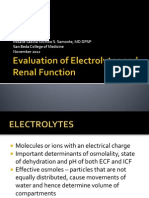 Electrolytes and Renal Function Tests November 2012 Sbcm Most Final
