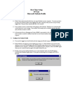 MS Outlook Setup