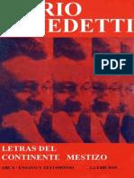 Benedetti, Letras Del Continente Mestizo