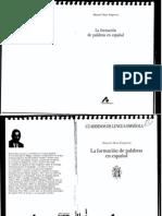 85155030 La ForLA-FORMACION-DE-PALABRAS-EN-ESPANOL-macion de Palabras en Espanol Manuel Alvar Ezquerra