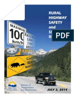 Rural Highway Safety and Speed Review