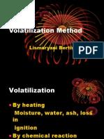 Volatilization Method