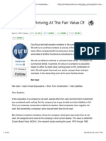 Guru Methods for Arriving at the Fair Value of Companies