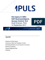 Hot Topics in GRC Access Control 10.0
