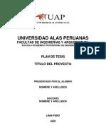 Plan de Tesis UAP