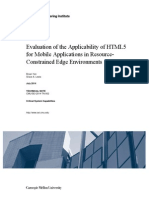 Evaluation of the Applicability of HTML5 for Mobile Applications in Resource-Constrained Edge Environments