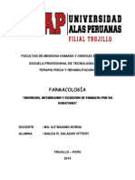ABSORCION,Metabolismo y Excresion Farmacologia (1)