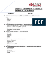 Examen de Evaluacion de Capacitacion de Trabajos en Altura