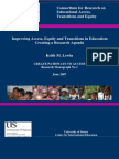 Improving Access, Equity and Transitions in Education
