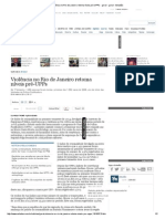 Violência No Rio de Janeiro Retoma Níveis Pré-UPPs - Geral - Geral - Estadão
