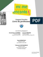 Guide Pedagogique a Mi Me Encanta 1re (B1) - Espagnol - Livre Élève Format Compact - Edition 2011