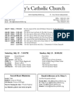 Bulletin for July 6, 2014