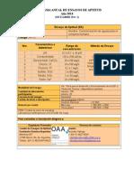 Programa 2014 Ensayos de Aptitud