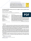 An Integrated FCM and Fuzzy Soft Set for Supplier Selection Problem Based on Risk Evaluation