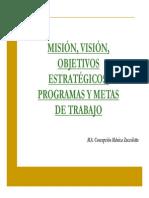 02 03 Mision Vision Objetivos Estrategicos Programas y Metas de Trabajo